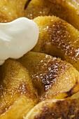 Puff pastry apple tart with cream (Liguria)