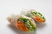 Vietnamese spring rolls with vegetable filling