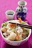 Glass noodle salad with seafood (Asia)