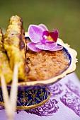 Saté with peanut sauce (Thailand)