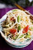 Papaya salad with snake beans and cucumber (Thailand)