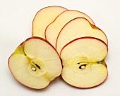 Pink Lady apple, sliced