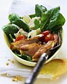 Rocket salad with duck breast