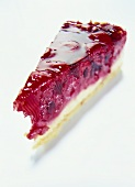 A piece of raspberry gateau