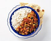 Pork and vegetable ragout with rice