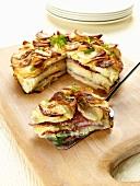 Potato cakes with salami
