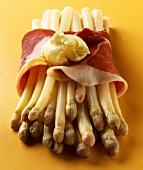 White asparagus with ham and butter (for baking)