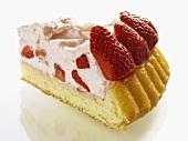 Strawberry flan with strawberry cream