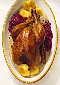Stuffed turkey with chestnut sauce