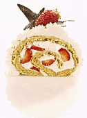 Strawberry sponge roll