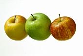 Three assorted Apples