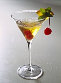 Champagne cocktail with Grand Marnier