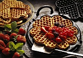 Oatmeal Waffles with Fruit