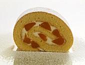 Sponge roll with mandarin oranges