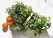 Basket with summery Herbs
