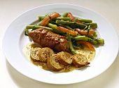 Veal Roulade with Vegetables