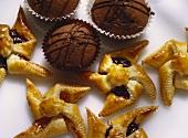 Pastry Pinwheels and Chocolate Cupcakes
