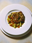 Veal Knuckle Slices with Vegetables