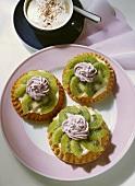 Kiwi Tartlet with Blackberry Cream