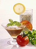 Tomato Shake and Herb Cocktail