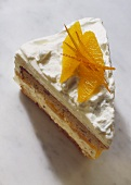 A piece of orange gateau