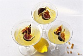 Lemon jelly with figs