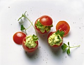 Tomatoes Stuffed with Avocado Tatar