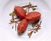 Gelato all'anguria (watermelon ice cream), Sicily, Italy