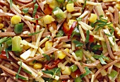 Spicy Cold Cut Salad with Gouda Cheese & Bell Pepper