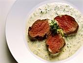 Poached Fillet of Beef in Herb Sauce