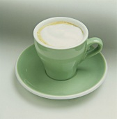 Capuccino in a Green Cup