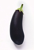 Aubergine with drops of water