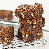 Brownies on cake rack