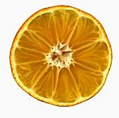 A clementine, cut open