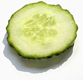 A slice of cucumber (close-up)