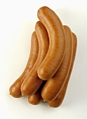 Several Bockwurst sausages
