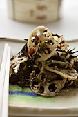 Seaweed salad with lotus roots and sesame