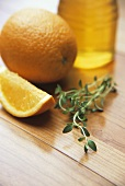 Thyme, orange and honey (ingredients for BBQ marinade)