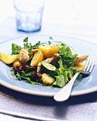 Smoked mackerel salad with potatoes