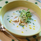 White bean cream soup with Parmesan