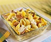 Pasta shells with tuna