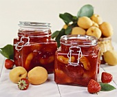 Apricot and strawberry preserve