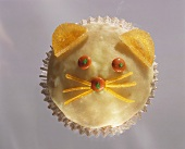 Decorated muffin (cat's face)