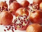 Pomegranates and half a pomegranate