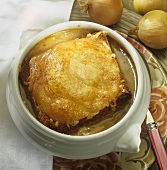 French onion soup with cheese croûte