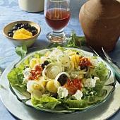 Greek-style onion and potato salad