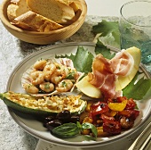 Plate of mixed appetisers