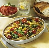 Mixed vegetable bake (potatoes, broccoli & cherry tomatoes)