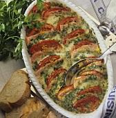 Turkey breast, mozzarella and tomato bake