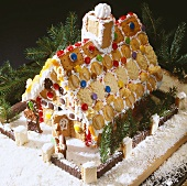 Gingerbread house (made from biscuits and sweets)